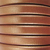 Regaliz 10mm Oval Leather Cord - Matte Metallic Copper - per inch