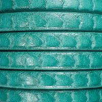 Regaliz Scales 10mm Oval Leather Cord - Turquoise