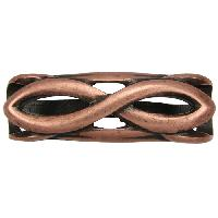 Regaliz Infinity 10mm Oval Leather Cord Slider - Antique Copper