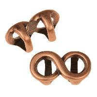 Regaliz Infinity 10mm Oval Leather Cord Slider per 10 pieces - Antique Copper