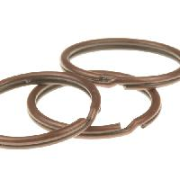 Keychain Split Ring - 25mm - Antique Copper