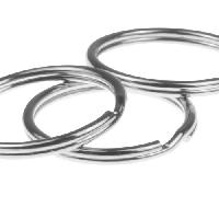 Keychain Split Ring - 25mm - Silver