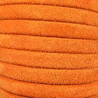 Regaliz Suede 10mm Leather Oval Cord - Orange