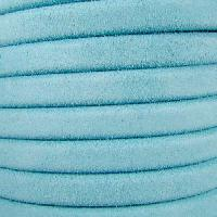 Regaliz Suede 10mm Leather Oval Cord - Baby Blue