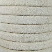 Regaliz Suede 10mm Leather Oval Cord - Beige - per inch