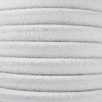 Regaliz Suede 10mm Leather Oval Cord - White - per inch