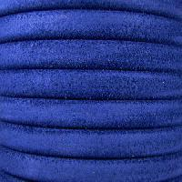Regaliz Suede 10mm Leather Oval Cord - Royal Blue - per inch