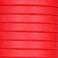 Regaliz Textured 10mm Oval Leather Cord - Red - per inch