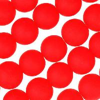 Cultured Sea Glass Bead Round 8mm - Cherry Red