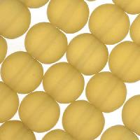 Cultured Sea Glass Bead Round 8mm - Desert Gold