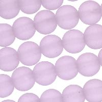 Cultured Sea Glass Bead Round 8mm - Periwinkle