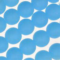 Cultured Sea Glass Bead Round 8mm - Opaque Blue Opal