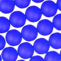 Cultured Sea Glass Bead Round 10mm - Royal Blue