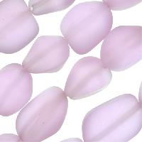 Cultured Sea Glass Bead Nugget Small 10-15mm - Periwinkle