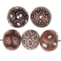 Samunnat Bindu Round Small 14-15mm - Black / Camel / Silver
