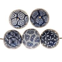 Samunnat Bindu Round Small 14-15mm - Navy / White