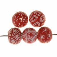 Samunnat Bindu Round Small 14-15mm - Red / White