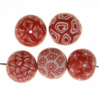 Samunnat Bindu Round Medium 18mm - Red / White
