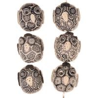Samunnat Bead Owl Baby - Black / White / Grey