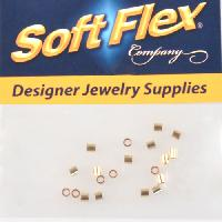Soft Flex Crimp Tube 2x2mm - Gold Filled