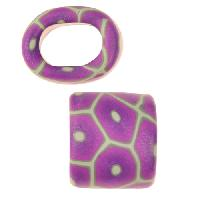 Samunnat Large Hole Slider Bullseye - New Lilac / Pale Green