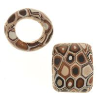 Samunnat Large Hole Slider Dotty - Chocolate / Ivory