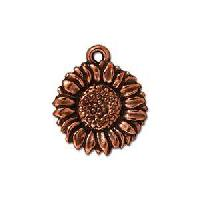 TierraCast Charm Sunflower - Antique Copper