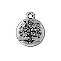TierraCast Charm Tree of Life - Silver Plate