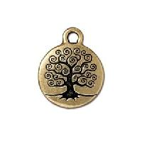 TierraCast Charm Tree of Life - Antique Gold