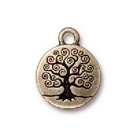 TierraCast Charm Tree of Life - Antique Brass