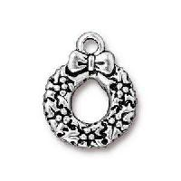 TierraCast Charm Christmas Wreath - Silver Plate