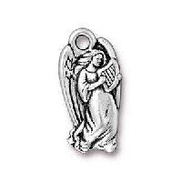 TierraCast Charm Christmas Angel - Silver Plate