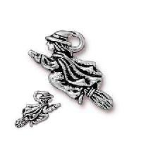 TierraCast Charm Halloween Witch - Silver Plate