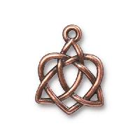 TierraCast Charm Celtic Open Heart - Antique Copper