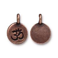 TierraCast Charm Om - Antique Copper