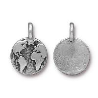 TierraCast Charm Earth - Silver Plated