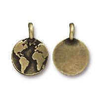 TierraCast Charm Earth - Antique Brass