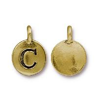 TierraCast Charm Letter C - Antique Gold