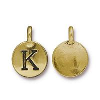 TierraCast Charm Letter K - Antique Gold