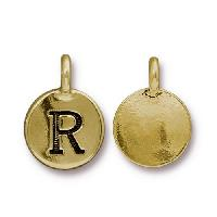 TierraCast Charm Letter R - Antique Gold