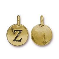 TierraCast Charm Letter Z - Antique Gold