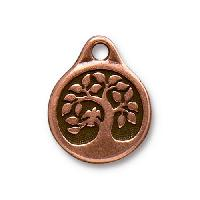 TierraCast Charm Bird in a Tree - Antique Copper