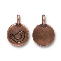 TierraCast Charm Bird Fat - Antique Copper
