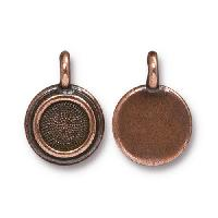 TierraCast Charm Bezel Stepped - Antique Copper