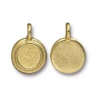 TierraCast Charm Bezel Stepped - Gold Plated