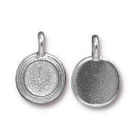 TierraCast Charm Bezel Stepped - Silver Plated