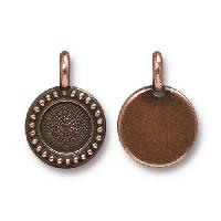 TierraCast Charm Bezel Beaded - Antique Copper