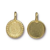 TierraCast Charm Bezel Beaded - Gold Plated