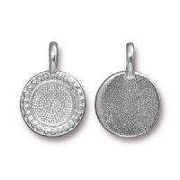 TierraCast Charm Bezel Beaded - Silver Plated