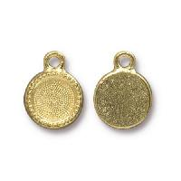 TierraCast Charm Bezel Small - Gold Plated